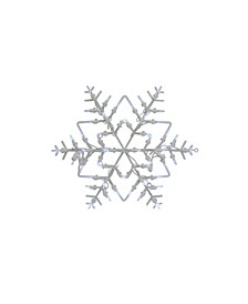 "16"" White Lighted Snowflake Christmas Window Silhouette Decoration"