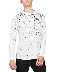 Men's Paint Splatter Long-Sleeve T-Shirt, Created For Macy's