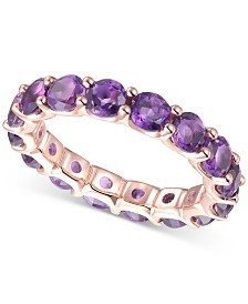 Amethyst Eternity Band (2-7/8 ct. t.w.) in 14k Rose Gold-Plated Sterling Silver