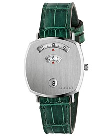 Grip Green Alligator Leather Strap Watch 35mm