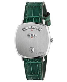 Grip Green Alligator Leather Strap Watch 35mm