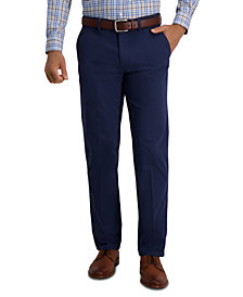 Haggar Men's Modern Straight Fit Super Flex Casual Pants