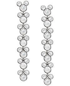 Cubic Zirconia Mickey Mouse Drop Earrings in Sterling Silver