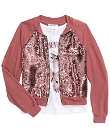 Big Girls 2-Pc. Flip Sequins Bomber Jacket & Just Believe Tank Top
