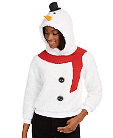 Juniors' Snowman Hoodie