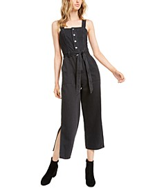 Black Volcano Side-Slit Jumpsuit