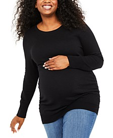 Plus Size Ruched Sweater