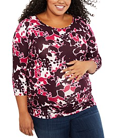 Plus Size Ruched Top