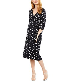 Maternity Printed Wrap Dress