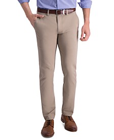 Men's Slim-Fit Four-Way Stretch Solid Twill Chino Pants