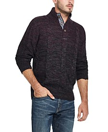 Men's Ombré Mock Neck Sweater
