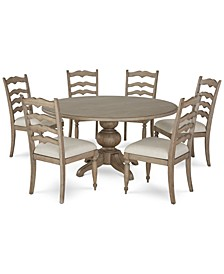 Ellan Round Dining 7-Pc. Set (Table & 6 Side Chairs), Created for Macy's