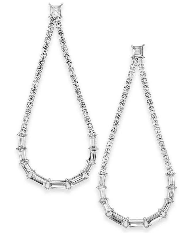 INC International Concepts INC Crystal Open Drop Earrings, Created for Macy's