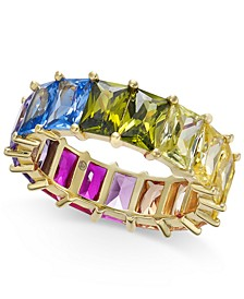 INC Gold-Tone Multicolor Baguette Stone Ring, Created For Macy's
