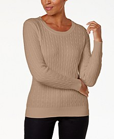 Cotton Cable-Knit Sweater, Created for Macy's