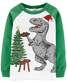 Toddler Boys Cotton Holiday Dinosaur T-Shirt