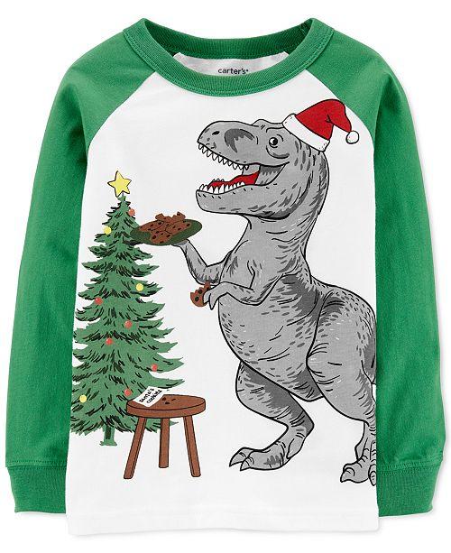 Carter's Toddler Boys Cotton Holiday Dinosaur T-Shirt
