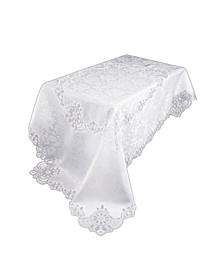 "Antebella Lace Embroidered Cutwork Tablecloth, 72"" x 108"""