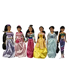 "11.5"" African American Princess Dolls Gift Set"