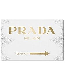 Milan Sign Contemporary Gold Canvas Art Collection