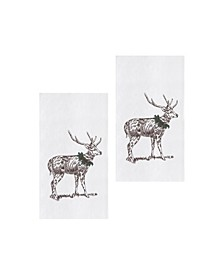 Holly Deer Kitchen Towel, Set of 2