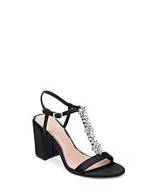 Raina Embellished T-Strap Evening Sandals