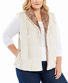Plus Size First Frost Reversible Faux Fur Vest