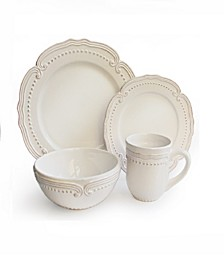 Victoria White 16Pc Dinnerware Set