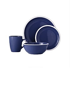 Jay Imports Hadleigh-Navy 16 Pc Dinnerware Set
