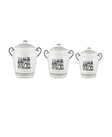 Le Bistro Canisters, Set of 3