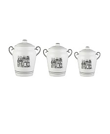 Jay Imports Le Bistro Canisters, Set of 3