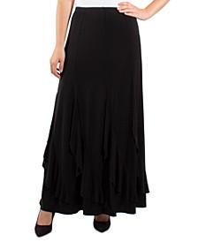 Ruffle-Hem Maxi Skirt
