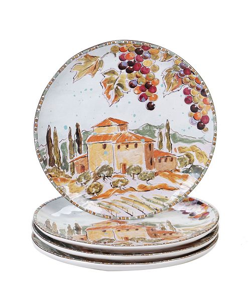 Certified International Tuscan Breeze 4-Pc. Dinner Plates