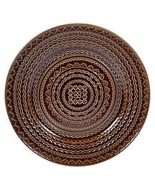 Aztec Brown Round Platter
