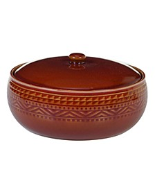 Aztec Rust Bean Pot