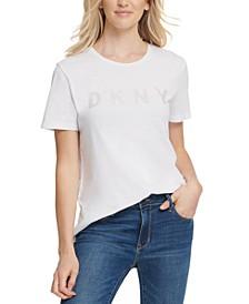 Glitter Logo-Print T-Shirt