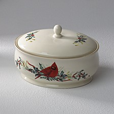 Winter Greetings Entertaining Covered Casserole Dish