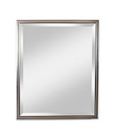 "Alpine Reflect Silver 28"" x 34"" Beveled Wall Mirror"