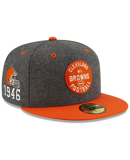 New Era Boys' Cleveland Browns On-Field Sideline Home 59FIFTY-FITTED Cap