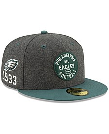 Boys' Philadelphia Eagles On-Field Sideline Home 59FIFTY-FITTED Cap