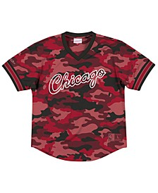 Men's Chicago Bulls Camo Mesh V-Neck Jersey Top