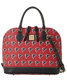 Atlanta Falcons Saffiano Zip Satchel