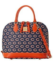 Chicago Bears Saffiano Zip Satchel