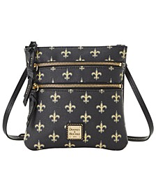 New Orleans Saints Saffiano Triple Zip Crossbody