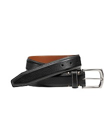 Johnston & Murphy Top-Stitched Belt