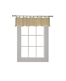 Home Fashions Bamboo Wood Ring Top Valance
