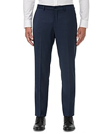Men's Modern-Fit Navy Birdseye Suit Separate Pants