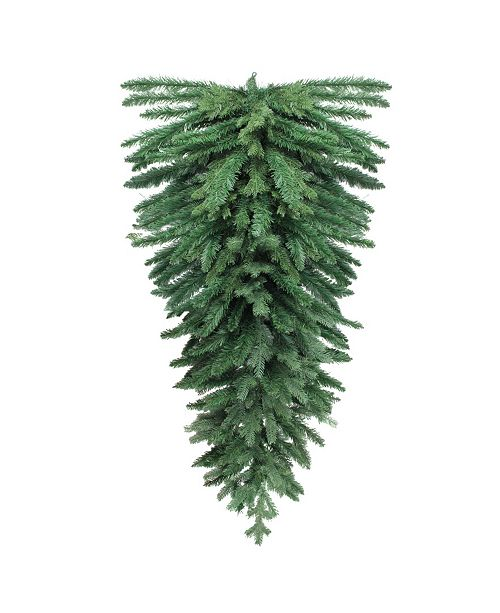 "Northlight 60"" Mixed Pine Artificial Christmas Teardrop Swag - Unlit"