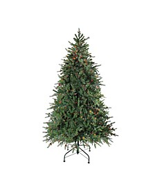 7.5' Pre-Lit Hunter Fir Full Artificial Christmas Tree - Multi-Color Lights