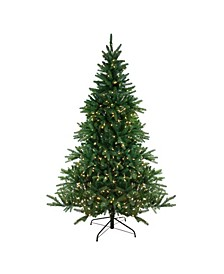 6.5' Pre-Lit LED Instant-Connect Noble Fir Artificial Christmas Tree - Dual Lights